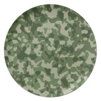 Plato Camuflaje militar del verde de la selva