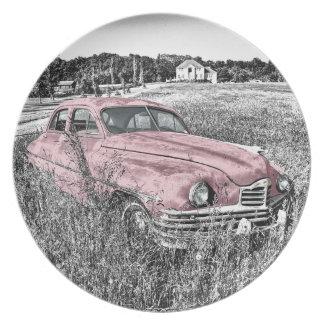 Plato Capilla vieja del motor de la linterna del vintage