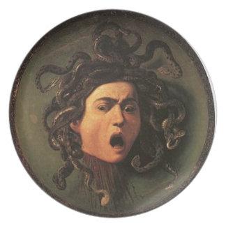 Plato Caravaggio - medusa - ilustraciones italianas