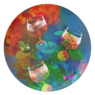 Plato Celebramos la vida en colores completos