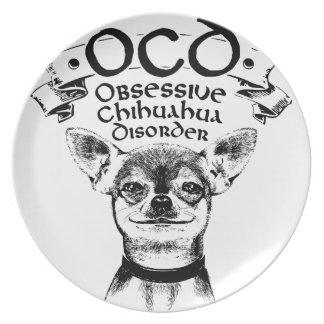 Plato Chihuahua obsesiva de OCD