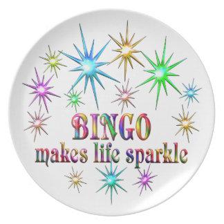 Plato Chispas del bingo