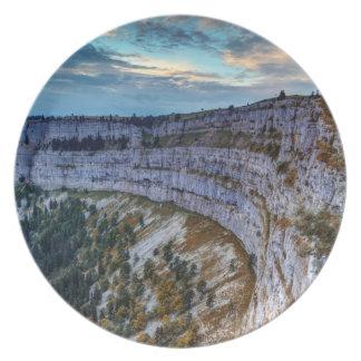 Plato Cirque rocoso de Creux du Van, Suiza