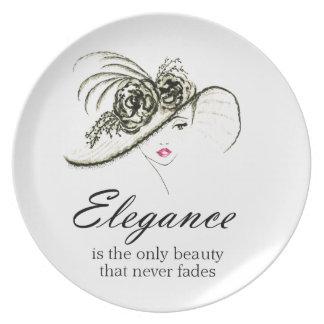 Plato Cita de la moda de la elegancia