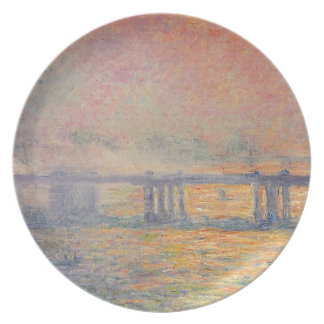 Plato Claude Monet - Saint Louis del puente cruzado de