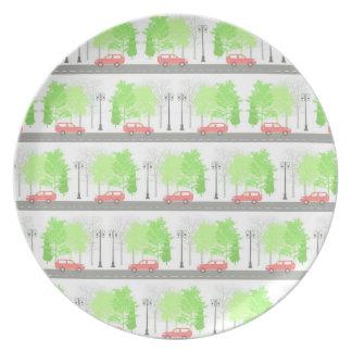 Plato Coches y árboles