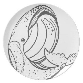 Plato Cola de una ballena