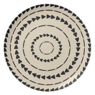 Plato Colección de Boho del africano - paño del fango