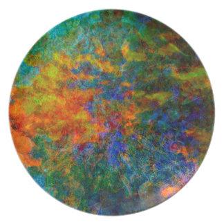 Plato Colores del arco iris del arte abstracto