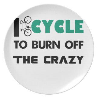 Plato Completo un ciclo para consumir el loco, bicicleta