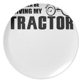 Plato Conduzca mi tractor