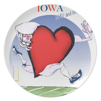 Plato corazón principal de Iowa, fernandes tony