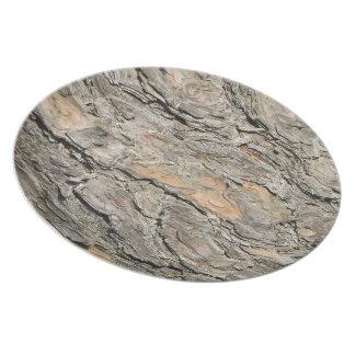 Plato Corteza del pino