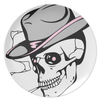 Plato cráneo rosado del ojo