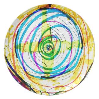 Plato Cruces de Cartoids del fractal y la banda espiral