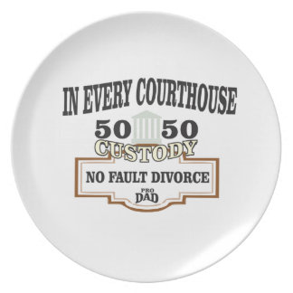 Plato custodia 50 50 en cada tribunal