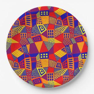 Plato De Papel 070717 abstractos divididos en segmentos - colores
