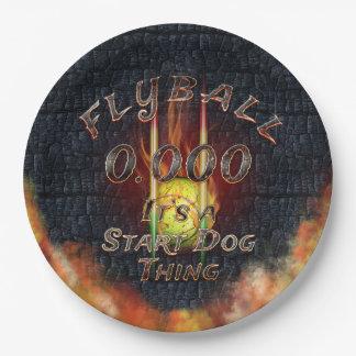 Plato De Papel 0,000 Flyball Flamz: ¡Es una cosa del perro del