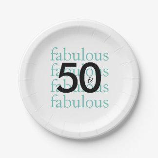 Plato De Papel 50.as placas de papel de la fiesta de cumpleaños