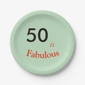 Plato De Papel 50 es placa de papel del fiesta fabuloso que hace