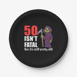 Plato De Papel 50 no es fatal pero es todavía viejo parca
