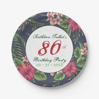 Plato De Papel 80.a placa de papel de la fiesta de cumpleaños del