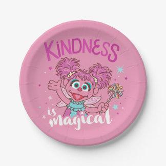 Plato De Papel Abby Cadabby - la amabilidad es mágica