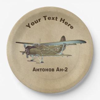 Plato De Papel Aeroplano de Antonov An-2