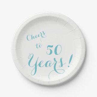Plato De Papel Alegrías a 50 años de placas de papel