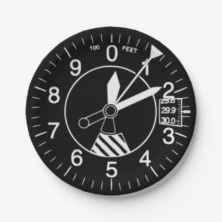 Plato De Papel Altímetro de los aviones