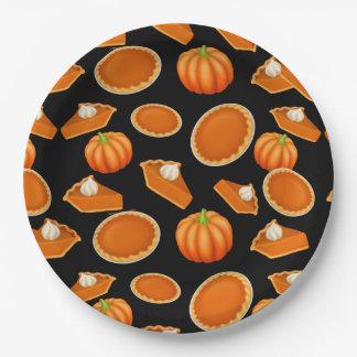 Plato De Papel Amo las placas de papel del pastel de calabaza