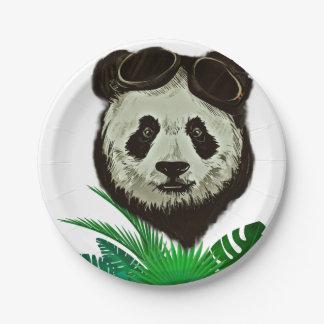 Plato De Papel Animal del oso de panda del inconformista