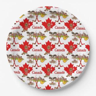 Plato De Papel Aniversario del canadiense 150 de la hoja de arce