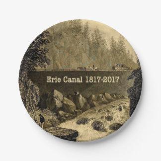 Plato De Papel Años bicentenarios del canal Erie histórico