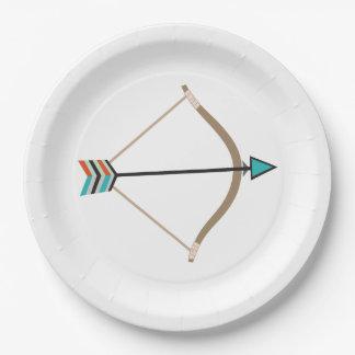 Plato De Papel Arco y placa de papel de la flecha