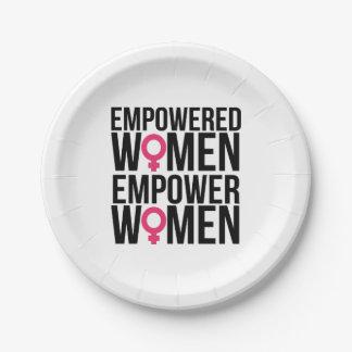 Plato De Papel Autorice a las mujeres