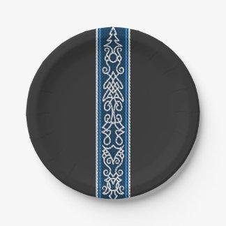 Plato De Papel Azul del modelo de Viking