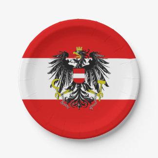 Plato De Papel Bandera austríaca