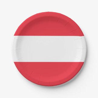 Plato De Papel Bandera austríaca patriótica