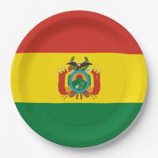 Plato De Papel Bandera: Bolivia