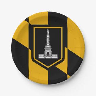Plato De Papel Bandera de Baltimore, Maryland
