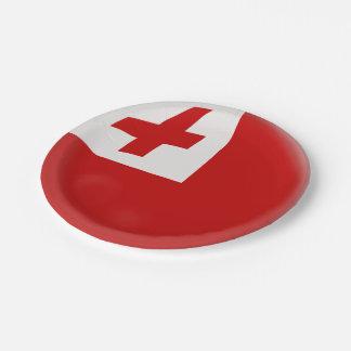 Plato De Papel Bandera de Tonga tongano