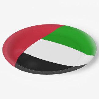 Plato De Papel Bandera de United Arab Emirates UAE