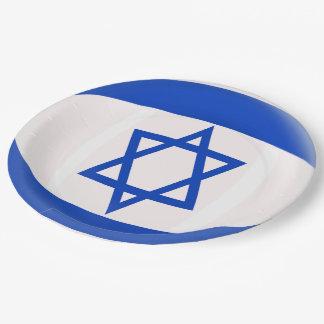Plato De Papel Bandera del israelí de Israel