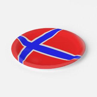 Plato De Papel Bandera del noruego de Noruega