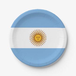 Plato De Papel Bandera: La Argentina