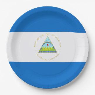 Plato De Papel Bandera: Nicaragua