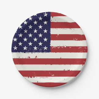Plato De Papel Bandera patriótica regalos del hogar de la bandera