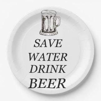 Plato De Papel Bebida de la comida de la cerveza