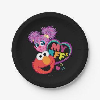 Plato De Papel BFF Abby y Elmo